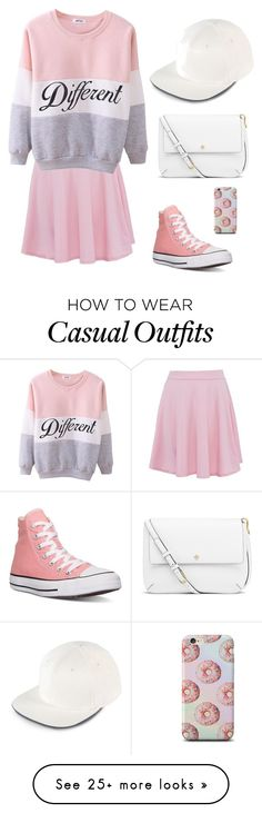 """""""Pink Casual Weekend Wear"""" by trianafrashure on Polyvore featuring Converse, adidas, Tory Burch, women's clothing, women, female, woman, misses and juniors"""
