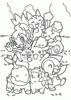 Cute Pokemon coloring pages for kids pokemon characters