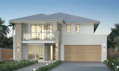 Carolina 33 is available at Clarendon Homes Modern House Plans, Modern House Design, Modern Home Exteriors, Clarendon Homes, Two Story House Design, Storey Homes, Dream House Exterior, Facade House, Home Design Plans