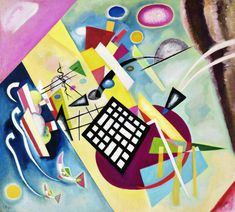 Wassily Wassilyevich Kandinsky was an influential Russian painter and art theorist. He is credited with painting the first purely abstract works. Born in Moscow, Kandinsky spent his childhood in Odessa. Art Kandinsky, Wassily Kandinsky Paintings, Art Bauhaus, Bauhaus Style, Musée National D'art Moderne, Milwaukee Art Museum, Fine Art Prints, Canvas Prints, Canvas Art