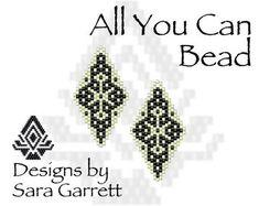 Peyote Earrings Pattern 168 Bead Weaving INSTANT DOWNLOAD PDF Odd Count