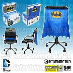 Now you can turn your chair into the hero your office deserves with this Batman Classic Chair Cape from Entertainment Earth. This is a Comic-Con exclusive, and totally worth the $24.99 price tag.