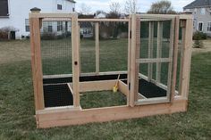 We built this enclosure with lots of room to maneuver inside. We plan to maximize planting space by adding potted veggies and maybe some grow bags as well.