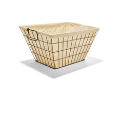 Wire Basket with Liner - Black