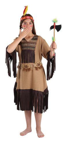 DisfracesMimo, disfraz de india nube roja niña varias tallas. Este comodísimo traje es perfecto para forma parte de una tribu en carnavales.Este disfraz es ideal para tus fiestas temáticas de disfraces de indios y vaqueros para el oeste infantiles.