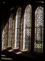 A stained glass window in the cathedral of Ely. Photo by Hakuba via Deviant Art