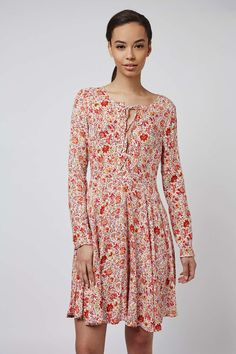 **Tie-Up Front Smock Dress by Glamorous