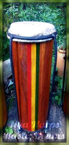 African Mahogany Nyabinghi Drum by RastaCultureShop on Etsy, $329.99