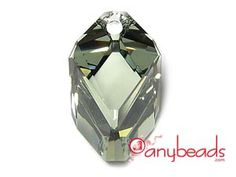 Black Diamond - Austrian Swarovski Crystal Elements 6650 Cubist Pendant 22mm