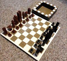 Chess Set made with Lego bricks