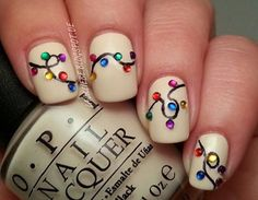 Christmas Lights | 11 Holiday Nail Art Designs That Are Too Pretty To Pass Up