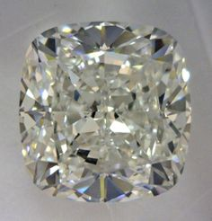 2.51-Carat Cushion Modified Brilliant Cut Diamond  This Fancy-cut H-color, and VS2-clarity diamond comes accompanied by a diamond grading report from GIA   $20036.08