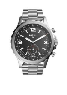 Fossil Men's Mens Nate Hybrid Smartwatch - Silver - One Size #Smartwatches