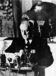 WW2 Leaders: President Roosevelt's (USA) speech after the bombing of Pearl Harbor.