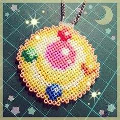 Sailor Moon necklace hama beads by ladymichunet