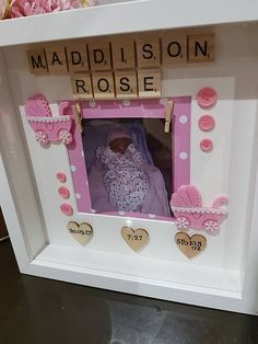 New Baby Gift• New Baby Frame• keepsake• Christening Gift• Naming Ceremony Gift• Baby Photo Frame • Baby Boy• Baby Girl• Personalised• The most beautiful keepsake for a friend/family member whos recently had a baby - or even for your own baby. A mix of Scrabble Frames & hand