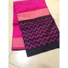 Buy IKS7700001-THAMBOORI's Handwoven Fine ikat silk-reversible saree-Hot pink black beauty, 700g online - Handwoven Kanchivarams,Soft Silks, Silk Cottons and Tussars!
