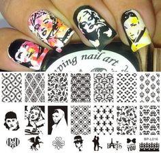 Vintage Theme Love Nail Art Stamp Template Image Plate BORN PRETTY BP-L016