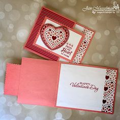 Fun Fold Cards, Love Cards, Folded Cards, Valentine Day Cards, Valentines Diy, Heart Cards, Valentine's Day Diy, Card Sketches, Halloween Cards