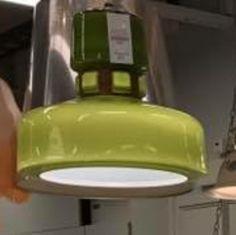 Grön taklampa