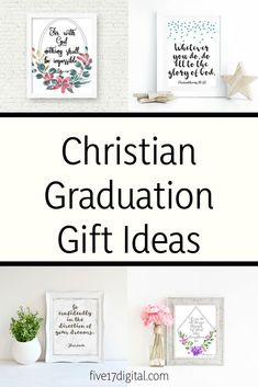 Christian printables for your wall and Bible journaling by FiveSeventeenDigital Christian School, Christian Gifts, Graduation Gifts, Graduation Celebration, College Graduation, Wall Mounted Headboards, Custom Headboard, Custom Wooden Signs, Scripture Wall Art