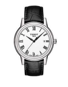 Tissot Men's Carson Watch with Leather Strap Men's Black