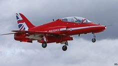 Red Arrows jet with new Union flag tail fin design - The RAF Red Arrows team was founded in 1965 at RAF Fairford in Gloucestershire, UK Red Arrow Plane, Raf Red Arrows, Arrow Show, Airplane Crafts, Air Force Aircraft, Union Flags, Military Helicopter, Royal Air Force, Flag Design