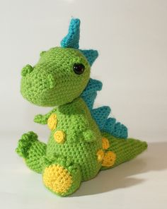 Amigurumi dragon.  -- Future dog toy