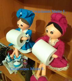 Muñecas fofuchas, porta rollo de papel higiénico, en VARIOS colores distintos para decorar tu baño con un toque especial.(Rosa, fucsia, mal...