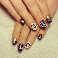 Pin for Later: 18 Harry Potter Nail Art Designs That Will Cast a Spell on You Must Be a Ravenclaw