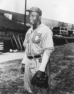 Jackie Robinson when he played in the Negro Leagues for the Kansas City Monarchs. Jackie's jersey number with the Monarchs was 5. The number can also be seen on the hip of his uniform pants, just under his belt.  Photo courtesy of Black History Album, via Flickr