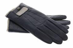 Uunique London zeer luxe touchscreen heren handschoenen van echt leder en kasjmier