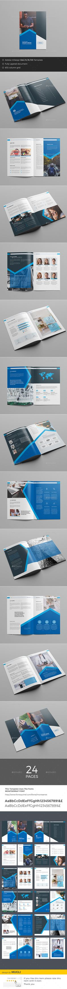 Corporate Brochure  — InDesign Template #clean #swiss • Download ➝ https://graphicriver.net/item/corporate-brochure/18372573?ref=pxcr