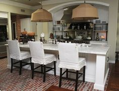 modern brick. [kitchen inspiration month day one: brick floors on color outside the lines]