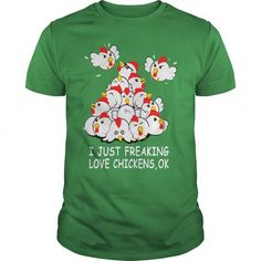 Awesome Tee I Freaking Love Chickens T shirts