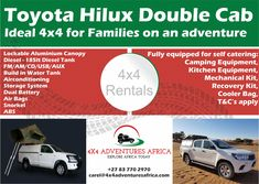 Request a Quote 2 - Adventures Africa - Africa Tours Kitchen Equipment, Camping Equipment, Toyota Hilux, Water Tank, Be Yourself Quotes, 4x4, Families, Africa, How To Apply