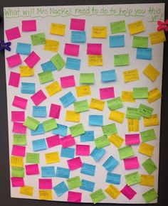 Post-it boards for first day of school