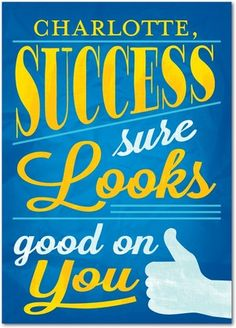 Success sure looks good on you! (and it never goes out of style)  Personalized cards from Treat.com