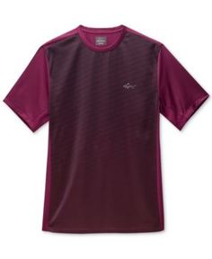Greg Norman for Tasso Elba Men's Ombre Stripe Performance T-Shirt, Only at Macy's  - Purple XXL