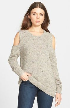"Rebecca Minkoff ""Page"" Cold Shoulder Sweater"