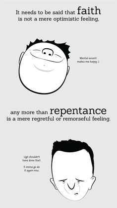 Real meaning of faith and repentance. The rest of the illustrations really make it clear | Adam4d