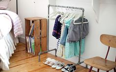 Love this clothes rack. DIY?