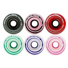 Wheels $60 Black, Frosty Pink, Red, Teal, Purple, Pink You can wear Moxi Wheels indoors or outdoors! Durometer = 78a Mix and Match any boot to any color wheel. Set of 8