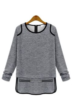 L/S O-Neck Piping Tunic