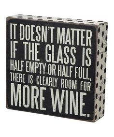 Primitives by Kathy More Wine Box Sign | zulily