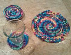 Coasters set colorful door DeArkVanNova op Etsy