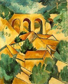 Braque: Viaducto en el estanque (1908)