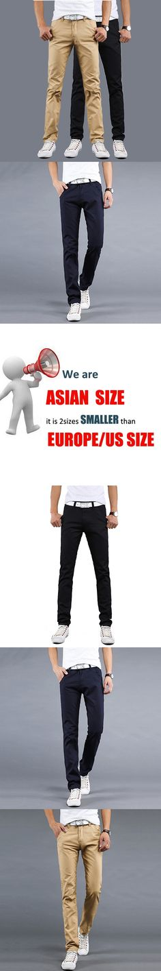 Top hot selling summer 2016 new men's fashion casual pants Korean version of the classic Slim straight solid color XL pants tide