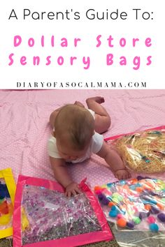 Dollar store sensory bags for babies A guide to DIY sensory bags Showing you how to easily make them on a dollar store budget Your baby will love this simple activity for playtime or tummy time sensorybag baby activities dollarstore Baby Sensory Bags, Baby Sensory Play, Diy Sensory Toys For Babies, Baby Tummy Time, Baby Time, Baby Monat Für Monat, Baby Diary, Baby Lernen, Cool Baby