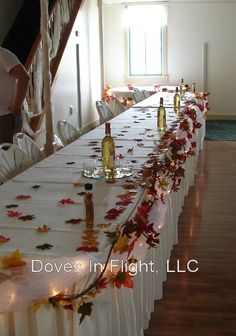 autumn wedding table decorations | need fall head table ideas